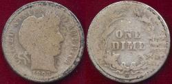 Us Coins - 1893-S BARBER DIME AG
