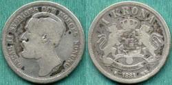 World Coins - SWEDEN 1881 KRONA  FINE