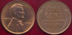 Us Coins - 1934-D LINCOLN CENT MS65RB  ... VERY SHARP STRIKE!