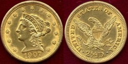 Us Coins - 1907  $2 1/2 LIBERTY GOLD ....  UNCIRCULATED