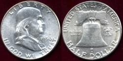 Us Coins - 1950 FRANKLIN 50c MS65
