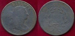 Us Coins - 1797  LARGE 1c ....  VG