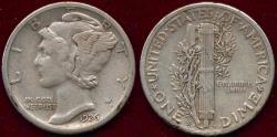 Us Coins - 1926-S MERCURY 10c  XF40