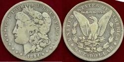 Us Coins - 1894-O MORGAN $1......VERY GOOD+