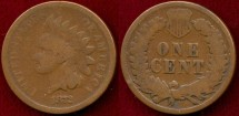 Us Coins - 1872  INDIAN 1c ....   GOOD