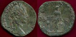 Ancient Coins - COMMODUS 179 AD ROME... SESTERTIUS ..  MINERVA