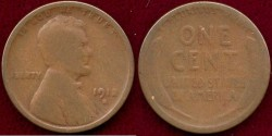 Us Coins - 1912-S LINCOLN 1c  AG+