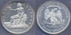 Us Coins - 1873 TRADE DOLLAR  UNC..... 1st year of the trade dollar