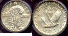 Us Coins - 1927-D STANDING 25c........  Near GEM UNCIRCULATED
