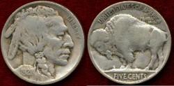 Us Coins - 1921  Buffalo 5c .....  FINE+