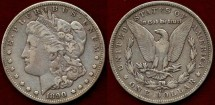 Us Coins - 1890-CC Morgan $1 .... PCGS VF35  near XF