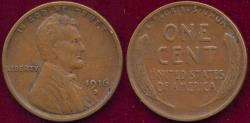 Us Coins - 1916-D LINCOLN 1c XF