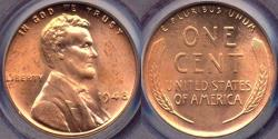 Us Coins - 1948 LINCOLN CENT  PCGS MS65RD