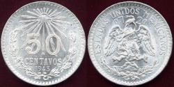 World Coins - MEXICO 1943-M  50 CENTAVOS   WHITE  CHOICE BU