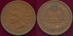 Us Coins - 1867 INDIAN 1c VF20