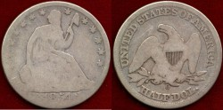 Us Coins - 1854-O  SEATED 50c.....  GOOD