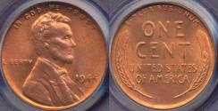 Us Coins - 1944-S LINCOLN CENT MS66RD PCGS   BEAUTY!