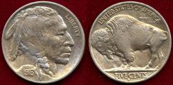 Us Coins - 1916-S BUFFALO 5c  MS60   SHARP STRIKE!