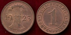 World Coins - GERMANY 1923-A  RENTENPFENNIG