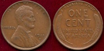 Us Coins - 1915-D LINCOLN 1c  XF45