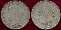 Us Coins - 1903 LIBERTY 5c  XF45
