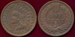 Us Coins - 1885 Indian 1c  XF