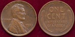 Us Coins - 1933-D LINCOLN CENT XF