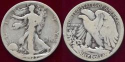 Us Coins - 1923-S WALKING LIBERTY  50c  GD