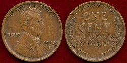 Us Coins - 1918-S LINCOLN 1c .... EXTRA FINE