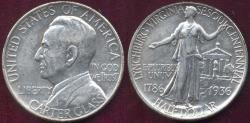 Us Coins - LYNCHBURG 1936 50c Commemorative AU