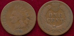 Us Coins - 1878  Indian 1c ..... GOOD