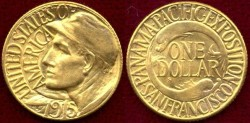Us Coins - 1915-S PAN PACIFIC EXPO  $1  GOLD MS64