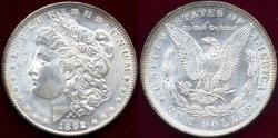 Us Coins - 1892 MORGAN $1  BEAUTIFUL WHITE MS63