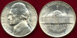 Us Coins - 1944-P   Silver   5c  ..... CHOICE  UNCIRCULATED