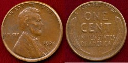 Us Coins - 1924-S LINCOLN 1c ... About UNCIRCULATED