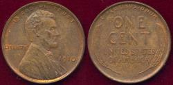 Us Coins - 1910 LINCOLN 1c MS65BN with some mint red