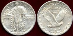 Us Coins - 1918-D STANDING LIBERTY 25c AU58