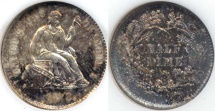 Us Coins - 1872-S SEATED HALF DIME  AU58 or better