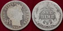 1893  BARBER 10c  GOOD