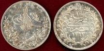 World Coins - EGYPT 1877 ABUL HAMID II  20 PARA