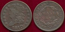 Us Coins - 1810 Classic  1/2c ....... EXTRA FINE