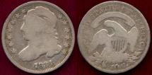 Us Coins - 1834 BUST 10c  GOOD+