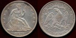 Us Coins - 1870 SEATED 50c  XF45