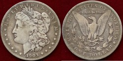 Us Coins - 1903-S MORGAN   $1 ..... PCGS VF
