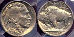 Us Coins - 1919-D BUFFALO 5c MS64 PCGS  PQ+++