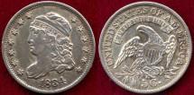Us Coins - 1834  HALF DIME .......  EXTRA FINE