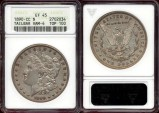 Us Coins - 1890-CC MORGAN $1  TAILBAR  VAM-4 ..... premium  EXTRA FINE