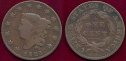 Us Coins - 1822 LARGE 1c  VG