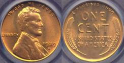 Us Coins - 1939-S LINCOLN CENT MS65RD PCGS