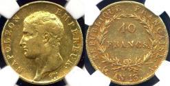 World Coins - FRANCE 1804  NAPOLEON I    NGC XF40  40 FRANC GOLD